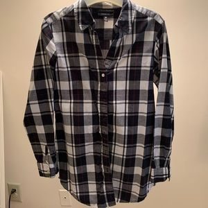 Nordstrom Rack Foxcroft Plaid Shirt Size 6